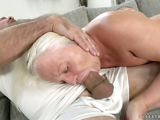 Old wise wholesale Anett is fucked hard by hot blooded young man