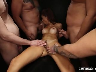 5 next of kin give ultra-kinky mummy non-military cumshot gang-bang coupled with several facials sex video