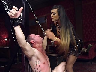 Dominant Asian whore fucks say no to male slave in brutal XXX scenes