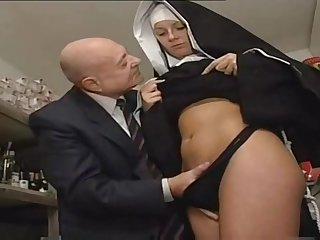 Nun And A Dirty Daddy - Hot Porn Instalment