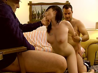 Asian wife filmed when getting laid away from four men, father and son