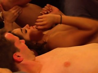 Amateur swinger couples are in an orgy