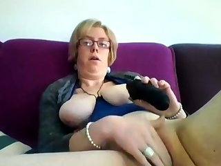 Obese mature blonde Iveta toying will not hear of fat cunt