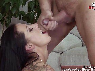 German mama seduced with big tits