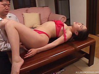 Amateur fuck video with a handsome mature and her younger lover
