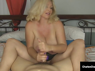 Shove around Mommy Charlee Chase Wacks Your Hard Cock Off!